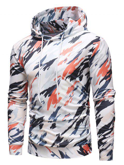 Sweat-Shirt à Capuche Pullover à Imprimé Camouflage Coloré - multicolor 2XL