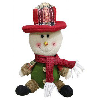 Christmas Theme Sitting Snowman Hanging Decoration Gift Doll - MEDIUM AQUAMARINE