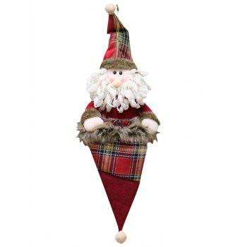 Christmas Hat Theme Santa Claus Shaped Hanging Decoration Doll - BLUE HOSTA