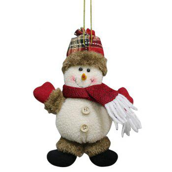 Christmas Theme Snowman Hanging Decoration Gift Doll - WHITE