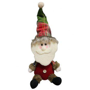 Christmas Theme Sitting Santa Claus Hanging Decoration Gift Doll - MEDIUM AQUAMARINE
