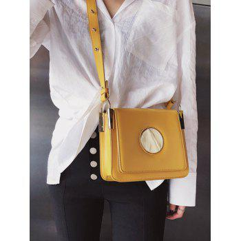 Going Out PU Leather Crossbody Bag - YELLOW