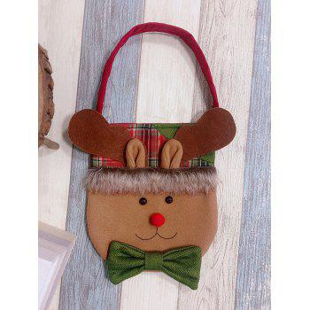 Christmas Theme Elk Decor Candy Bag - DARK TURQUOISE