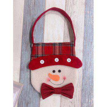 Christmas Theme Snowman Pattern Decoration Candy Bag - BLUSH RED