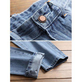 Ripped Seam Patchwork Nine Minutes of Jeans - LIGHT BLUE 36