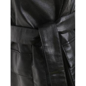 Belted Faux Leather Tunic Waistcoat