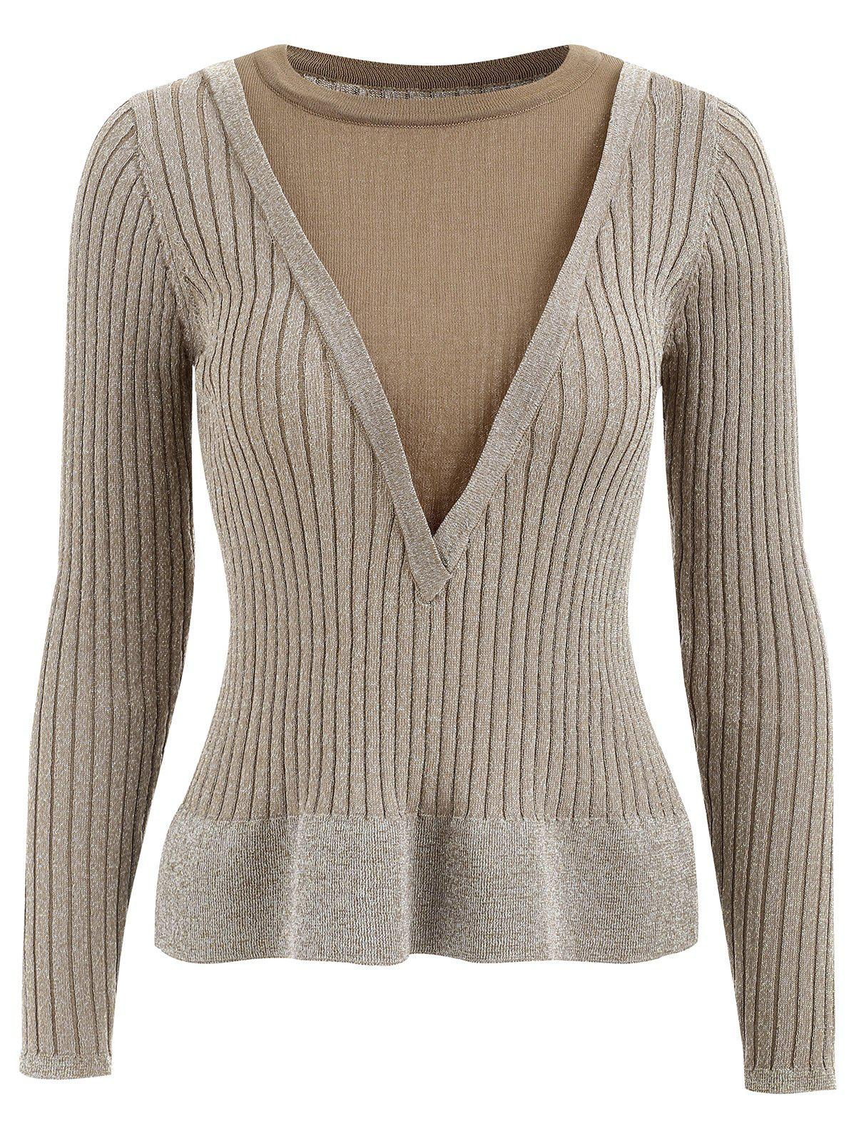 Faux Twinset Fitted Knitwear - YELLOW L