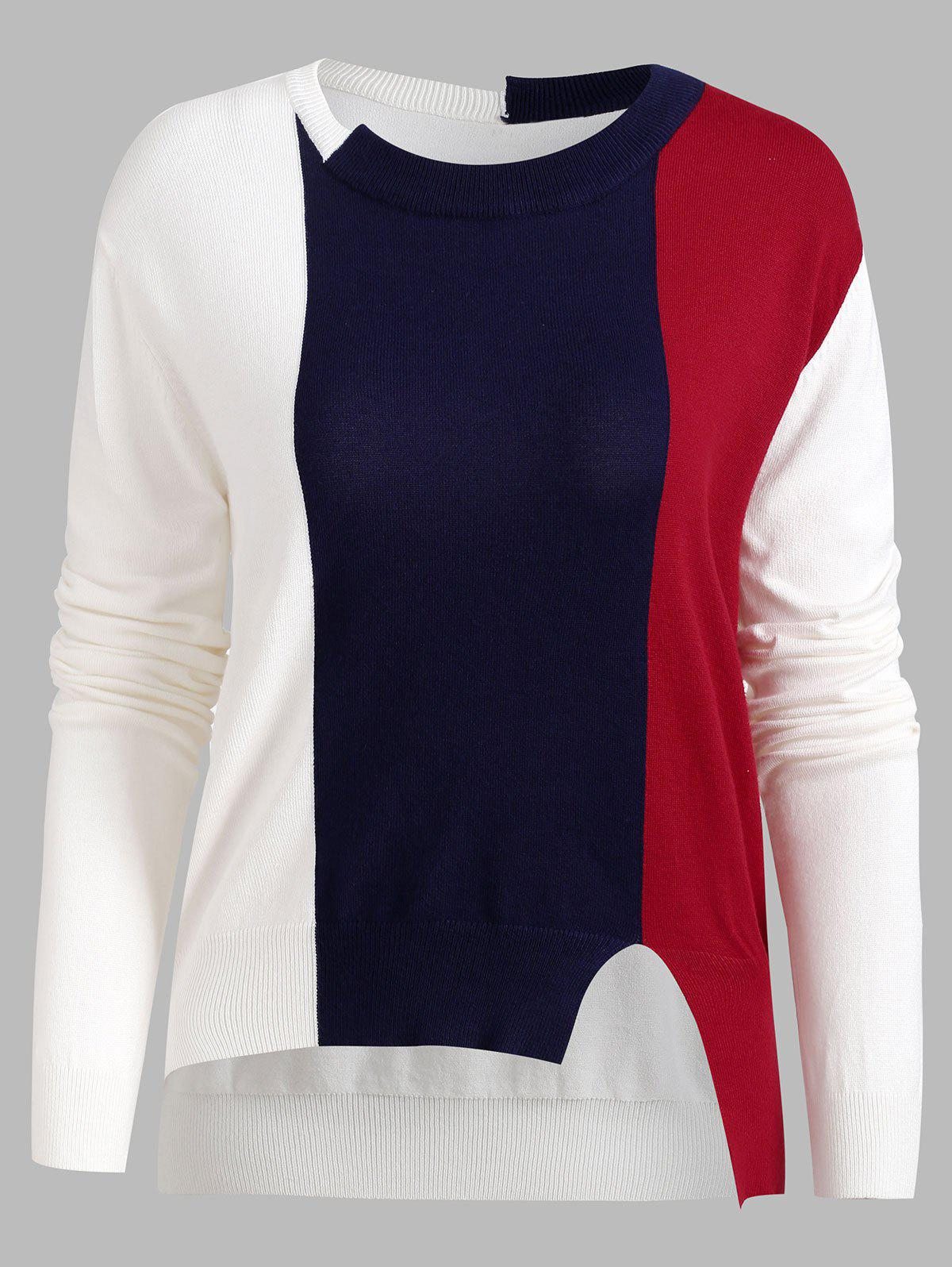 Tricot Asymétrique Color Block - multicolor M