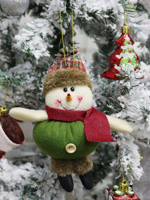 Christmas Snowman Theme Hanging Decoration Gift Doll - SEA GREEN