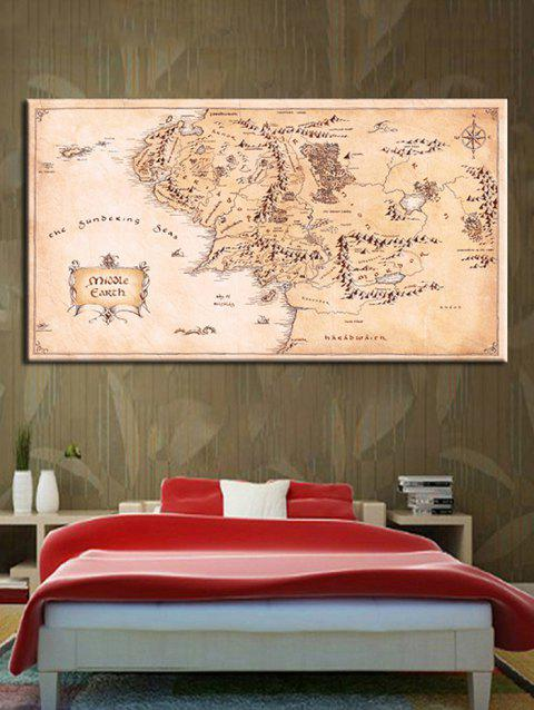 2019 The Middle Earth Map Print Canvas Wall Art Prints In multicolor ...