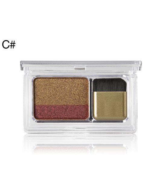 Cosmetic  2 Colors Shimmer Glitter Eyeshadow Palette - 003