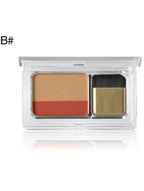 Cosmetic  2 Colors Shimmer Glitter Eyeshadow Palette - 002