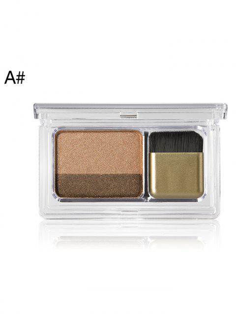 Cosmetic  2 Colors Shimmer Glitter Eyeshadow Palette - 001