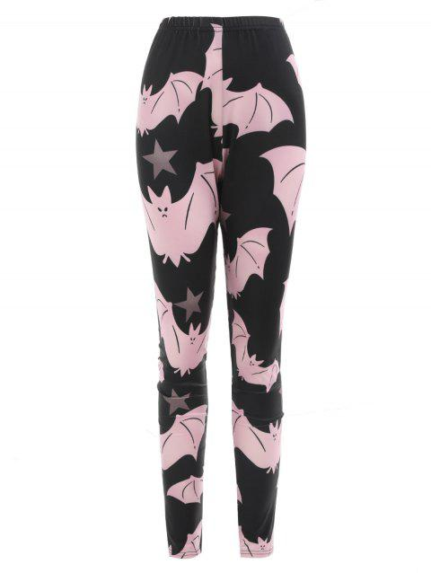 Halloween Cartoon Cartoon Bats Imprimer Leggings d'entraînement - Noir S