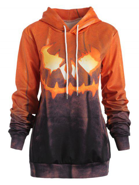 Sweat-shirt Halloween Brillant Citrouille Imprimé - multicolor M