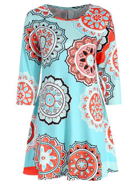 Tunic Print Dress - multicolor S