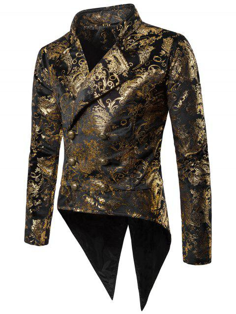 Gold Stamping Performance Swallow-tailed Blazer - GOLD 2XL