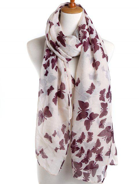 Elegant Butterfly Printed Spring Autumn Scarf - ROSE