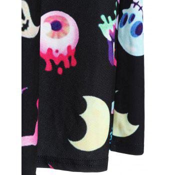 Halloween Printed Cut Out Vintage Dress - BLACK L