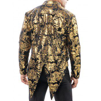 Gold Stamping Performance Swallow-tailed Blazer - GOLD L