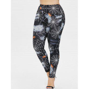 Halloween Plus Size Spider Web Leggings