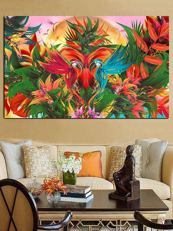 2018 abstract birds leaves print unframed wall art prints multicolor