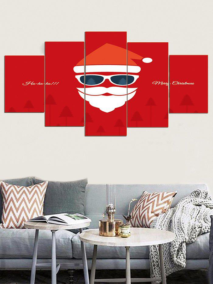 Christmas Santa Claus Print Canvas Wall Paintings - multicolor 1PC X 8 X 20,2PCS X 8 X 12,2PCS X 8 X 16 INCH( NO FRAME )