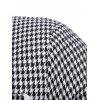 Slim Fit Bordure Pocket Houndstooth Blazer - BLACK L