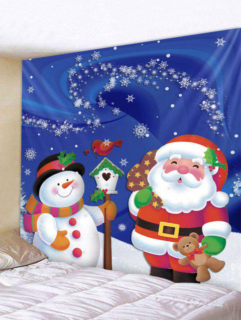 Father Christmas Snowman Wall Tapestry Decoration - multicolor W59 X L51 INCH