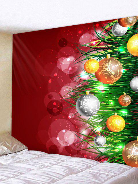 162243f9205 Christmas Ball Pattern Wall Tapestry Art Decor - multicolor W91 X L71 INCH