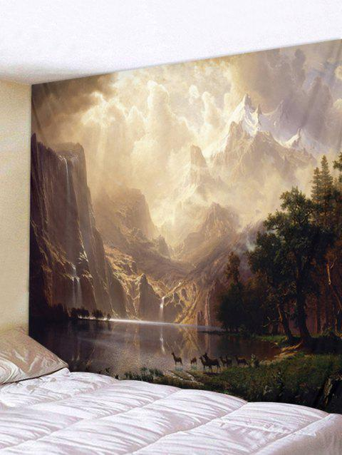 Mountain River Print Tapestry Wall Art - multicolor W91 INCH * L71 INCH