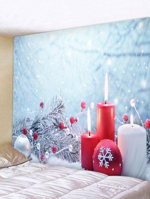 Christmas Snowflake Ball Print Wall Tapestry Art Decoration - RED W59 X L51 INCH
