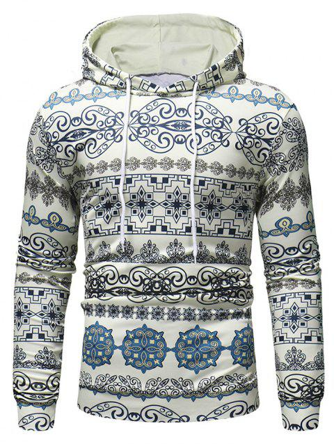 Multiple Patterns Printed Pullover Hoodie - multicolor 2XL
