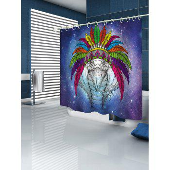 Snake Tribe Print Waterproof Shower Curtain - multicolor W71 INCH * L79 INCH