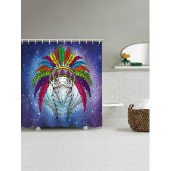 Snake Tribe Print Waterproof Shower Curtain - multicolor W65 INCH * L71 INCH