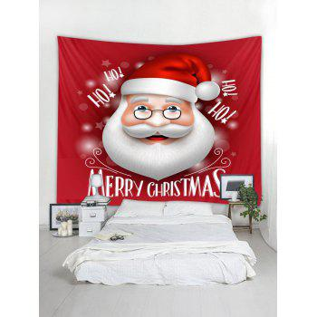 Merry Christmas Santa Claus Wall Tapestry Decoration - RED W79 X L71 INCH