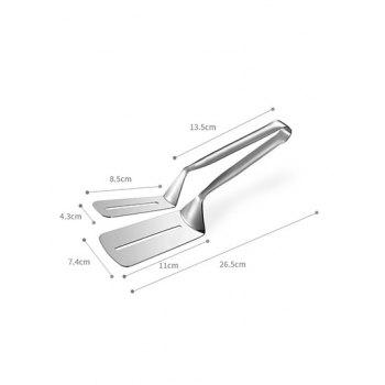 Food Clip Fried Steak Clamp - SILVER
