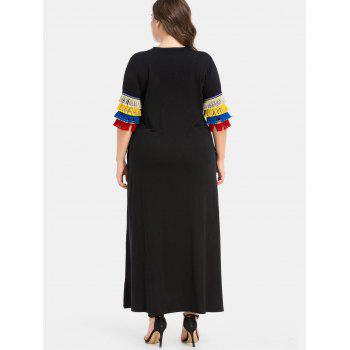 Plus Size Maxi Dress with Pockets - BLACK 2X