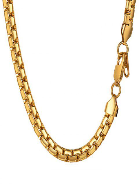 Stainless Steel Chain Necklace for Men - GOLD