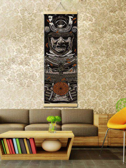 Warrior Print Wall Hanging Canvas Painting - multicolor 40*128CM