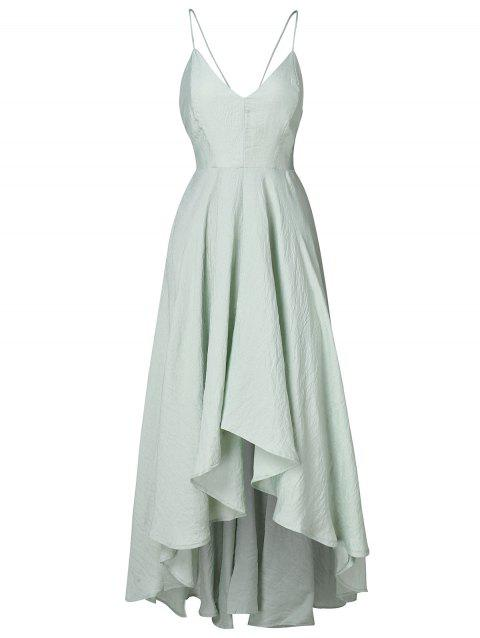 Cami Straps Long Asymmetrical Flowy Dress - PALE BLUE LILY M