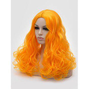 Long Middle Part Curly Synthetic Party Cosplay Wig - DARK ORANGE