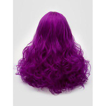 Long Middle Part Curly Synthetic Party Cosplay Wig - PURPLE