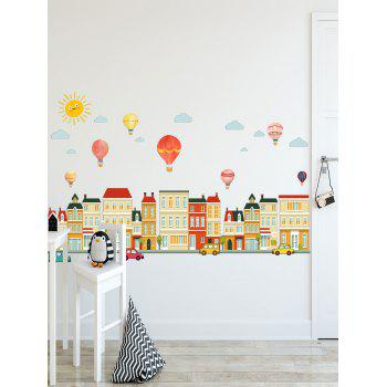 Hot Air Balloon Home Print Removable Wall Sticker - multicolor 20 X 28 INCH