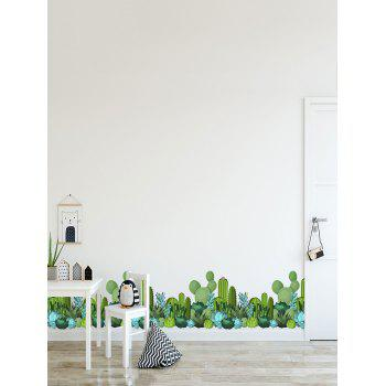 Cactus Print Removable Wall Sticker - multicolor