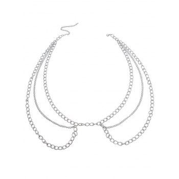 Vintage Metal Multilayers Body Waist Jewelry - SILVER
