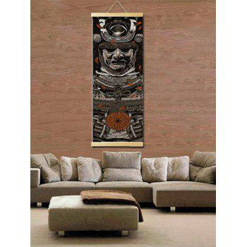 Warrior Print Wall Hanging Canvas Painting - multicolor 25*80CM