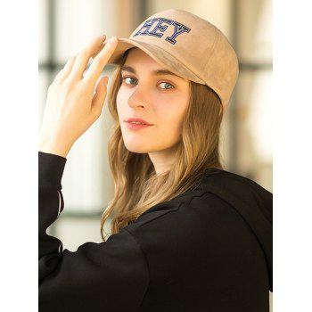 Outdoor HEY Embroidery Graphic Hat - BROWN SUGAR