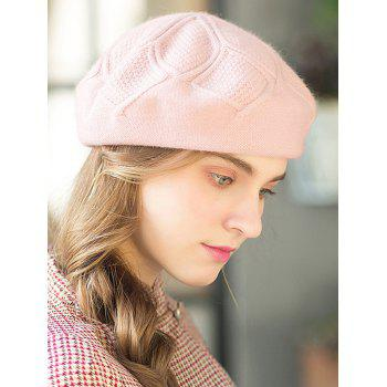 Stylish Solid Color Elegant Beret - PINK