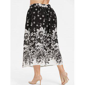 Plus Size High Waisted A Line Skirt - BLACK 4X